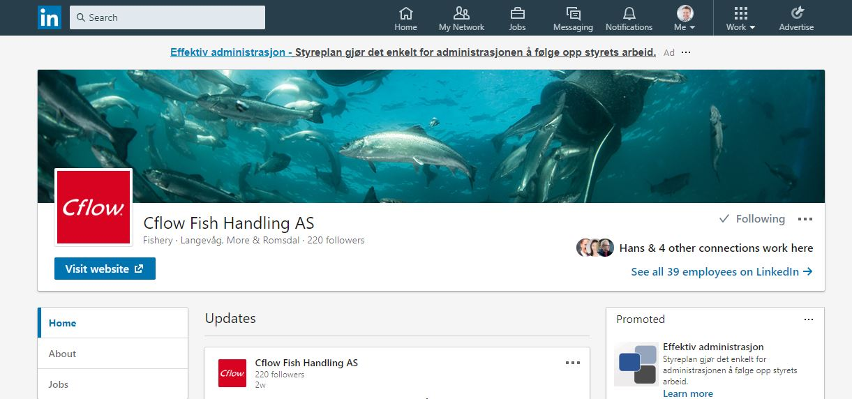 Cflow LinkedIn Company Page