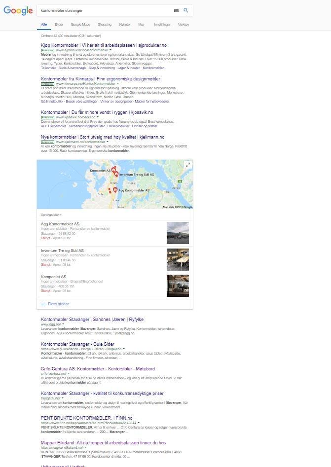 Kontormøbler Stavanger søkeresultat