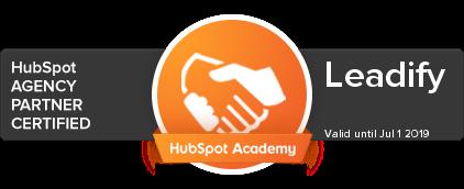 Leadify HubSpot Agency Partner Certfied