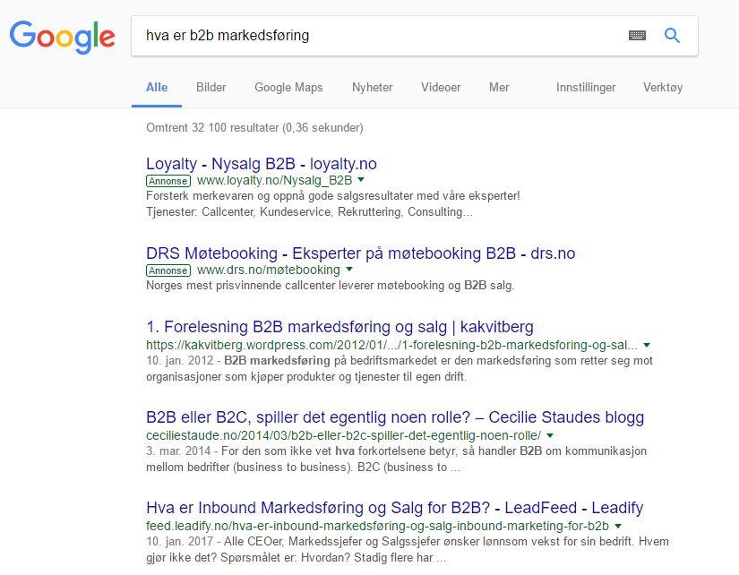 Teksten i HTML-tag bestemmer hva som vises i søkeresultatet i Google