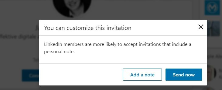 LinkedIn_customize invite