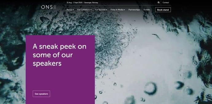 ONS 2020 homepage
