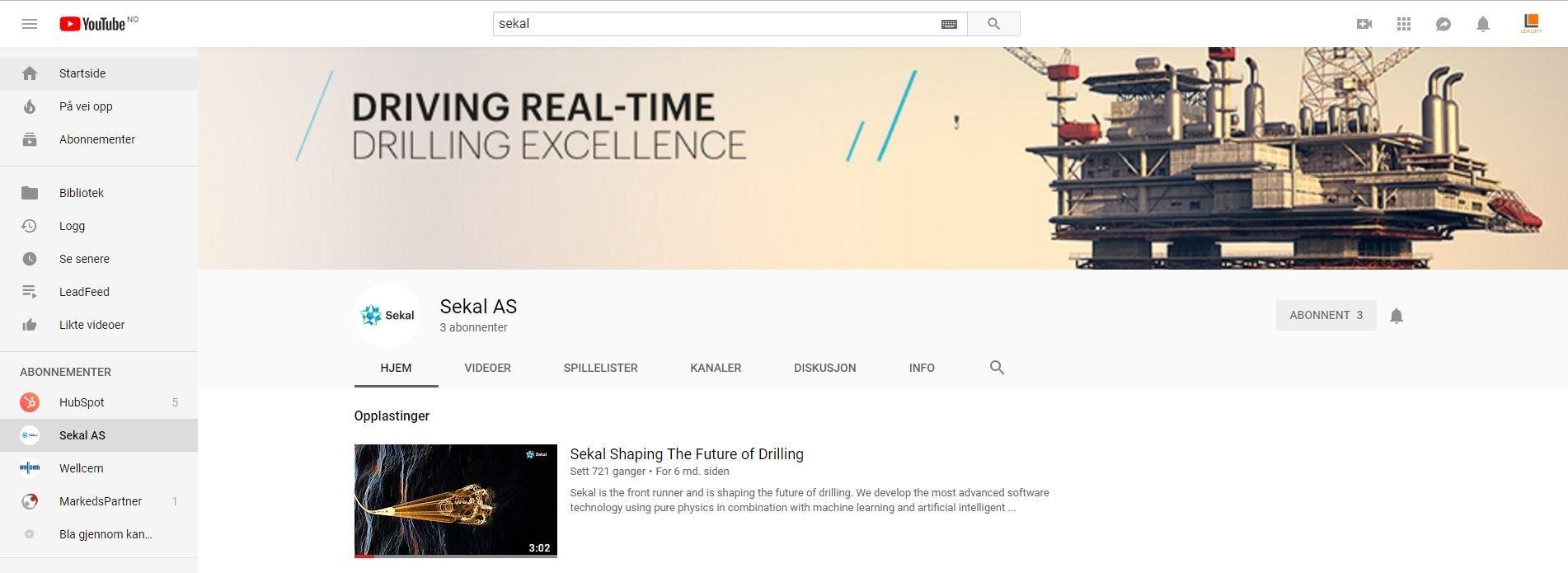 Sekal Youtube Company Page