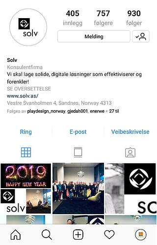 Solv Instagram Company Page