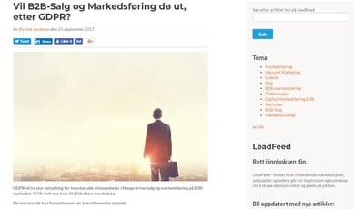 Vil B2B-salg og markedsføring dø ut, etter GDPR_faksimile