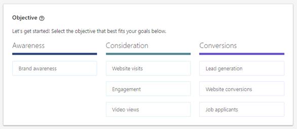 Hva er målet med LinkedIn kampanjen din?