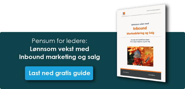 Klikk og last ned gratis guide: Inbound Marketing og salg