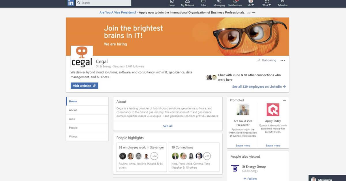 Slik lager du en LinkedIn bedriftsside (Company Page) som selger