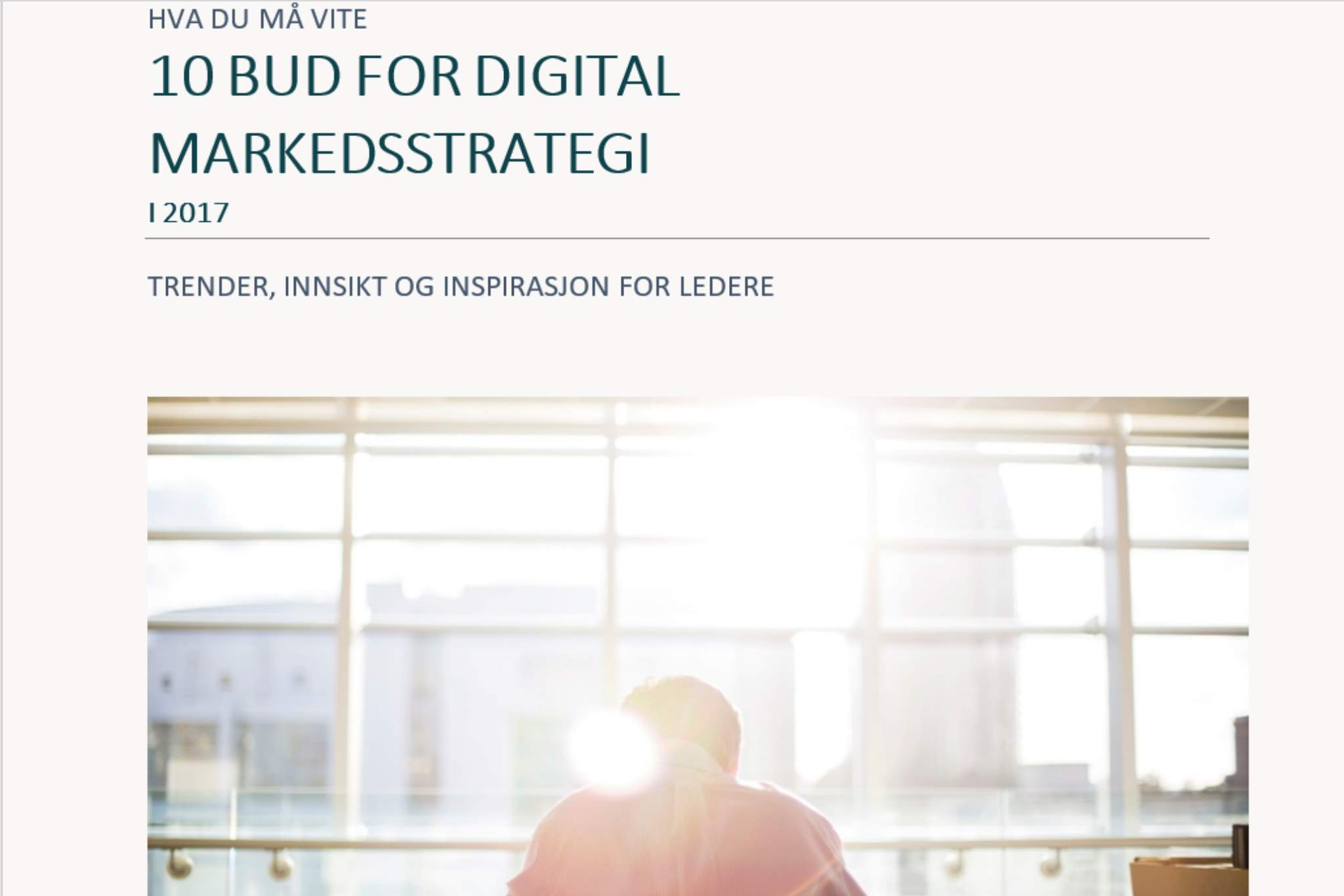 Topp 3 e-bøker om ledelse, B2B markedsføring og salg