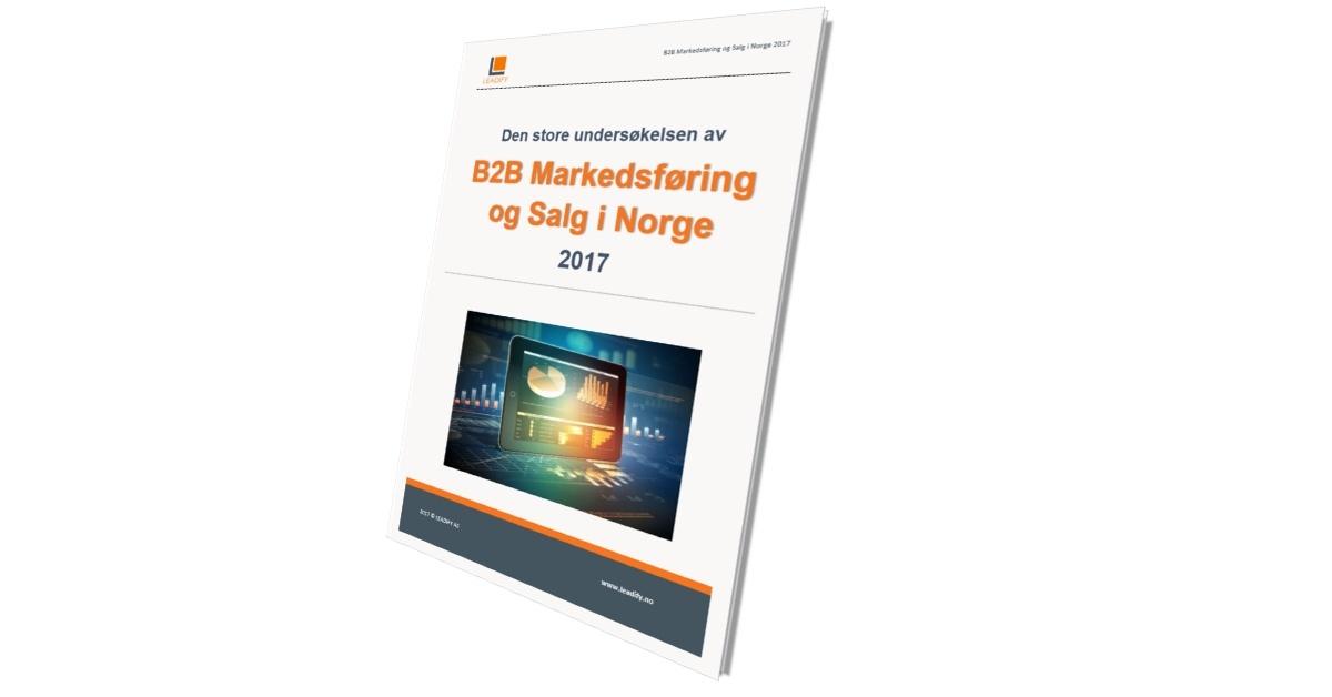 03d5a98c376 B2B Markedsføring og Salg i Norge 2017 - Gratis rapport og analyse