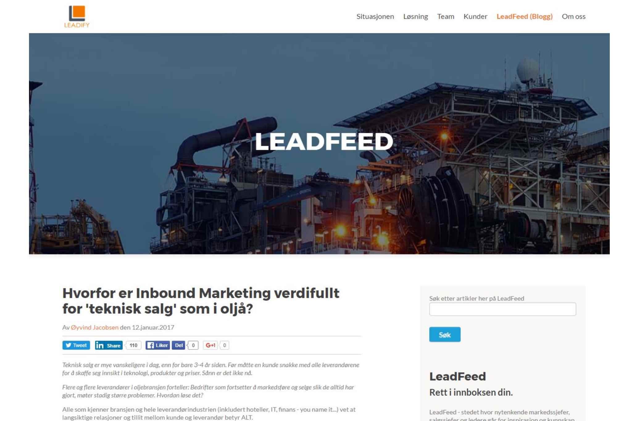 Topp 10 mest populære artikler om ledelse, B2B markedsføring og salg