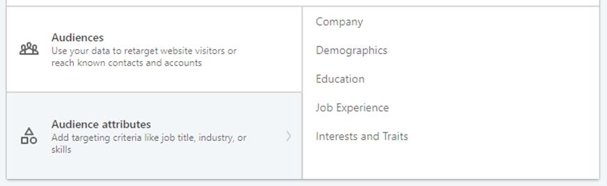 Segmentering av målgruppe på LinkedIn annonsering